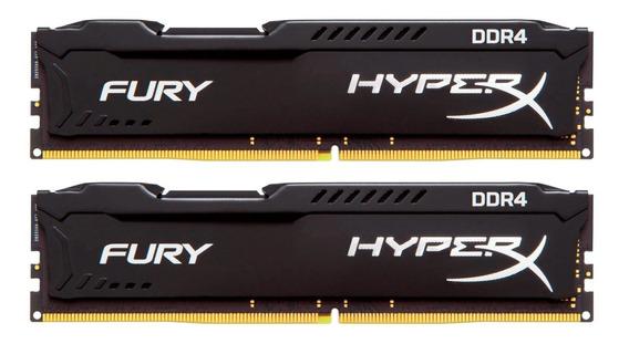 Memória Hyperx Fury 2x8gb Ddr4 2666mhz Cl15 Preto C/nf-e