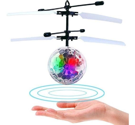 Bolinha Voadora Mini Drone Recarregável Led Por Sensor