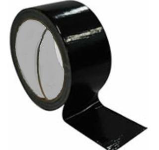 Caixa Com 49 Rl Fita Adesiva Preta Tipo Durex Plastica 48x50