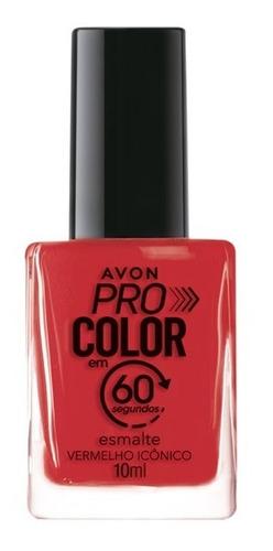 Imagem 1 de 1 de Avon - Pro Color 60 Segundos - Esmalte - Vermelho Icônico