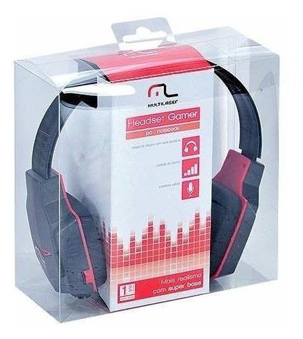 Fone Ouvido Gamer Headset Multilaser Com Microfone - Barato!