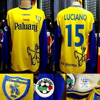 Camisa Chievo Verona- Joma- G- 2002/2003- N°15- Home