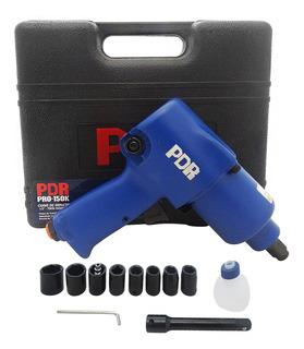 Chave De Impacto Pneumática 1/2 Com Kit Pro-150k Ldr2