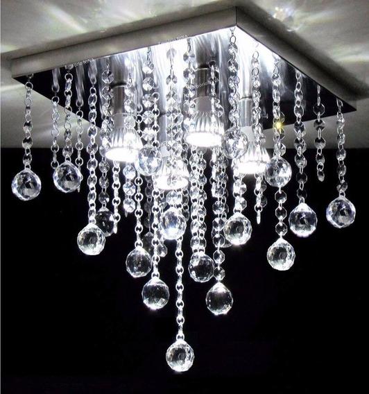 Lustre Plafon Pendente De Cristal -cristais Legítimos Gbtech