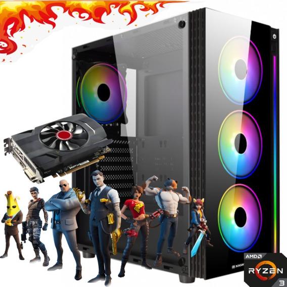 Computador Gamer Amd Ryzen 3200 8gb Ssd240g Radeon Rx550 4gb