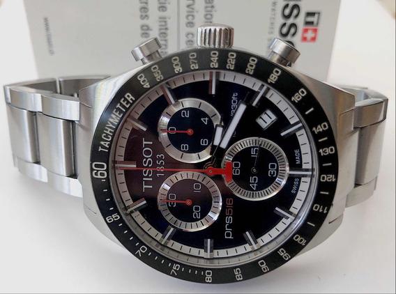 Tissot Prs516 Chronograph 42mm , Blue Dial , 12x Sem Juros !