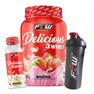 Delicious 3 Whey 900g + Delicious Whey 40g + Brinde - Ftw