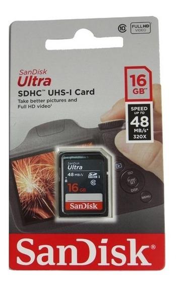 Cartão Sandisk Ultra 16gb 48mb/s Classe 10 - Pronta Entrega!