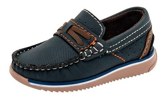 Zapatos Mocasines Para Niño Negro Total 3004cm-mncf Poi19