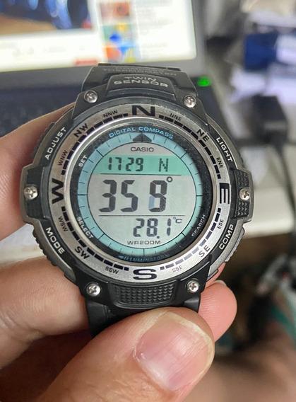Relógio Masculino Semi-novo Casio Twin Sensor Sgw-100