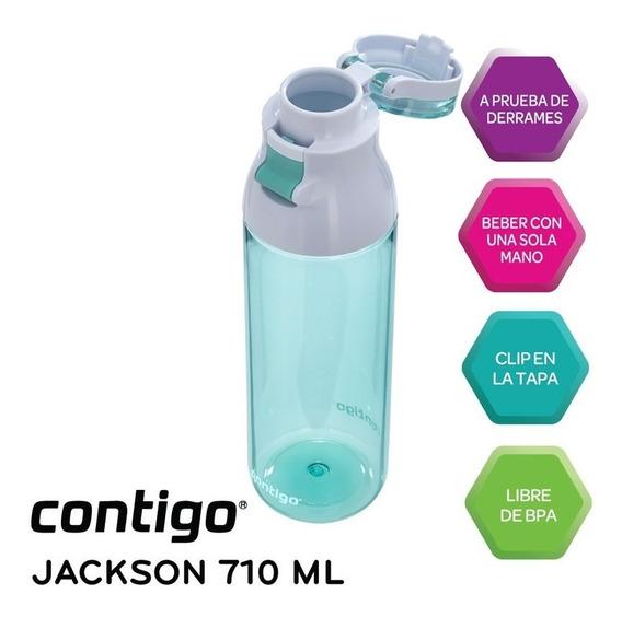 Botella De Agua Contigo Jackson Autoseal Jade Original Usa