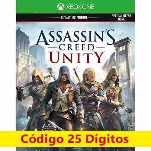 Jogo Assassins Creed Unity Xbox One Codigo 25 Digitos