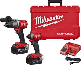 Combo Atornillador+llave De Impacto Milwaukee 18v Fuel 2997
