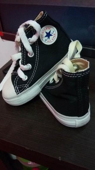 Zapatillas Converse Negras Originales Nuevas N 21