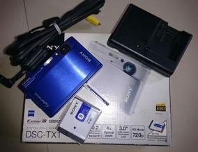 Camera Sony Dsc Tx1 Blue Metal