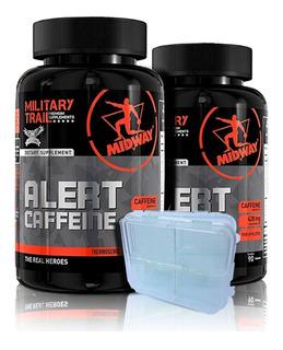 Combo 2x Alert Caffein 90 Caps + Brinde - Midway Original