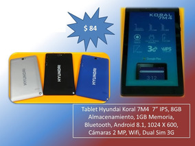 Tablet Hyundai 7 Ips ,8gb, 1gb Ram, Dual Sim, Android 8.1