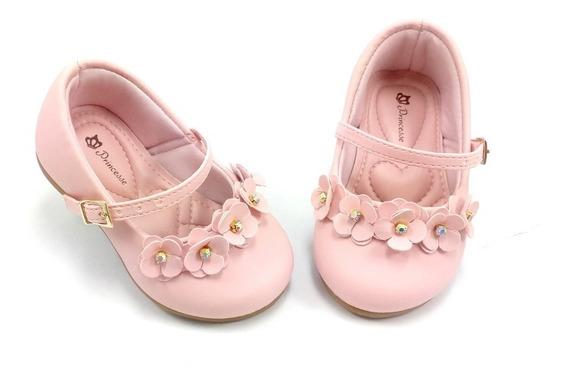 Sapatilha Bebe Infantil Menina Cor Rosa Lolo Calçados