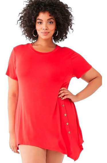 Remera Irregular By Forever 21 Talle Especial 2x 3x