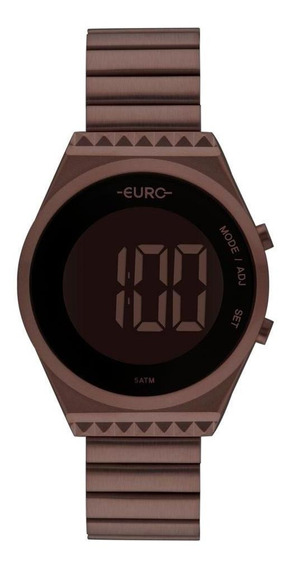 Relógio Feminino Euro Fashion Fit Marrom - Original