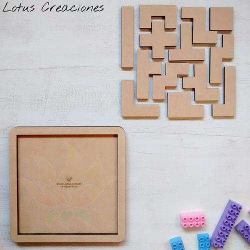 Puzzle Rompecabezas Tangram -corte Láser-