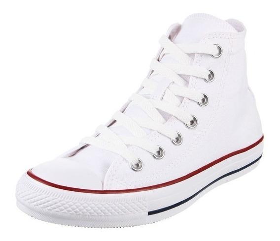 Bota Converse All Star Hi 156999 Blanco Rojo Dep