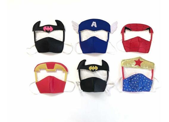Tapaboca Mascara Protectora Infantil Varios Modelos