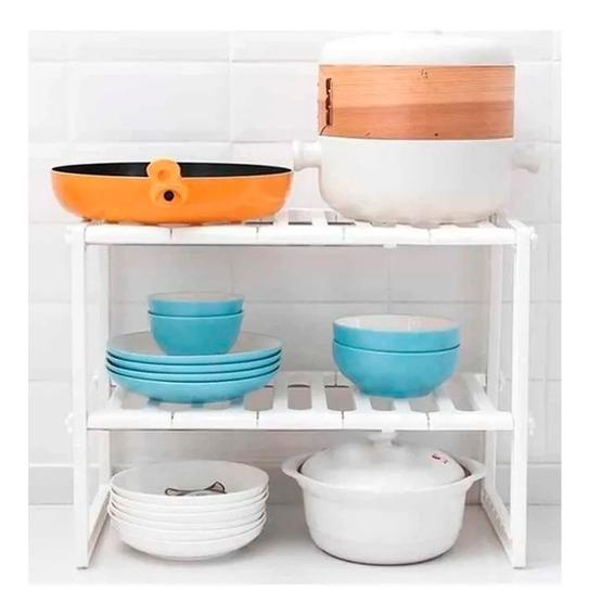 Estantes Organizador Multiuso Extensible Cocina Baño Mesada