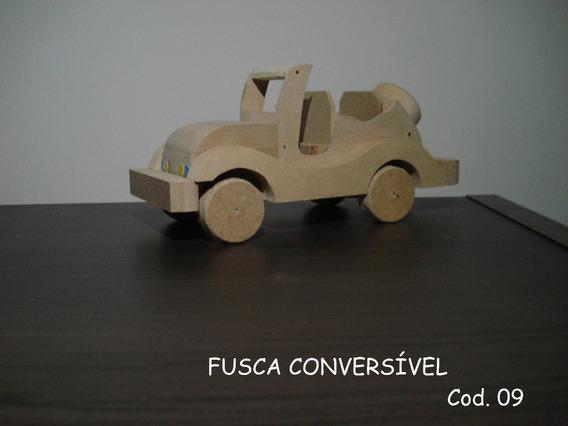 Carrinho Artesanal De Madeira Cod. 9 - Fusca Conversível