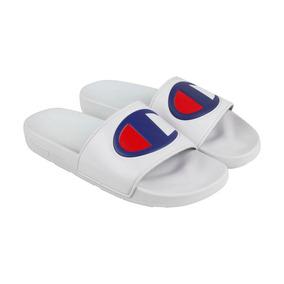 Sandalias Champion Ipo Slides White Originales Chanclas
