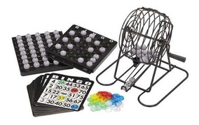 Set De Bingo Lota Completo Incluye Tombola Fichas Pelotas