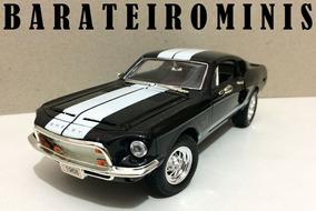 1:24 Shelby Gt-500 Kr 1968 Preto - Sunnyside Barateirominis