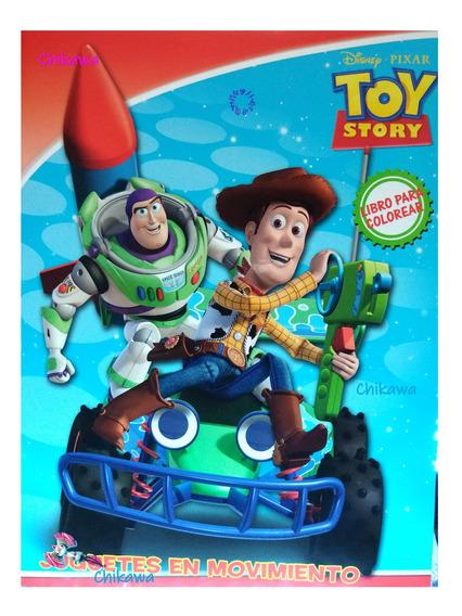 10 Libros Para Colorear Toy Story, Tamaño Carta, 16 Dibujos