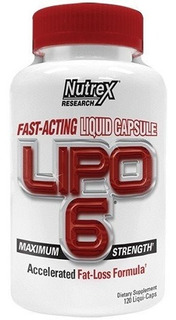 Lipo 6 Fast Acting Liquid 120 Caps White Nutrex Original Eua