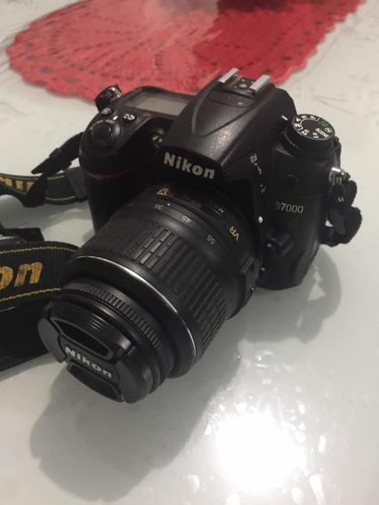 Câmera Nikon D7000+18-55+case+grip+cartão Sd+mochila