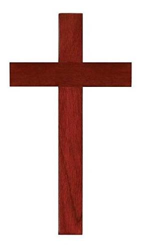 Madera De Caoba 10 Pulgadas Cruz De Pared Cristiana Señor D