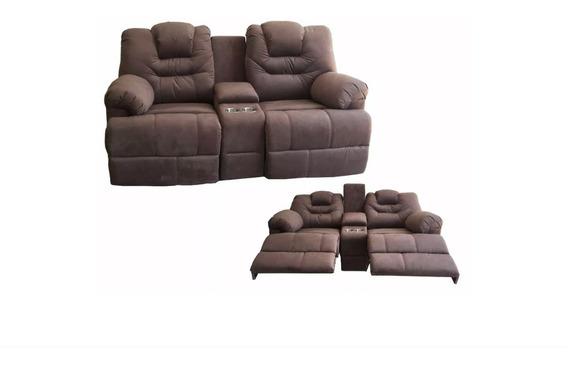 Sillon Reclinable Doble Love Seat Portavasos Reposet Sofa