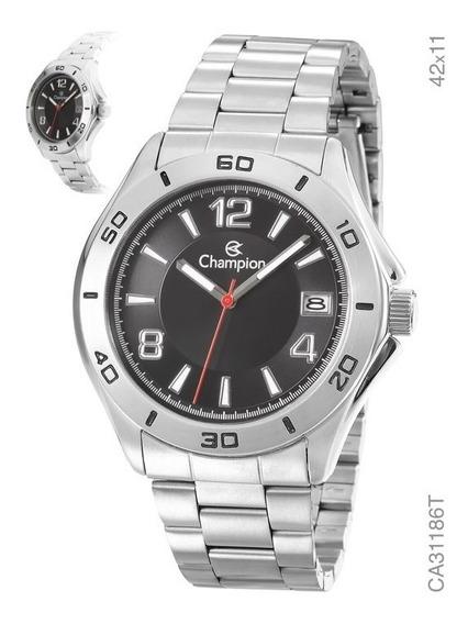 Relógio Masculino Champion Prata Ca31186t Barato Original