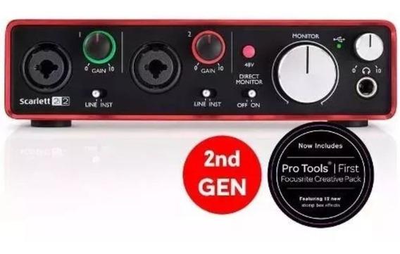 Focusrite Scarlett 2i2 2nd Geração Interface De Áudio