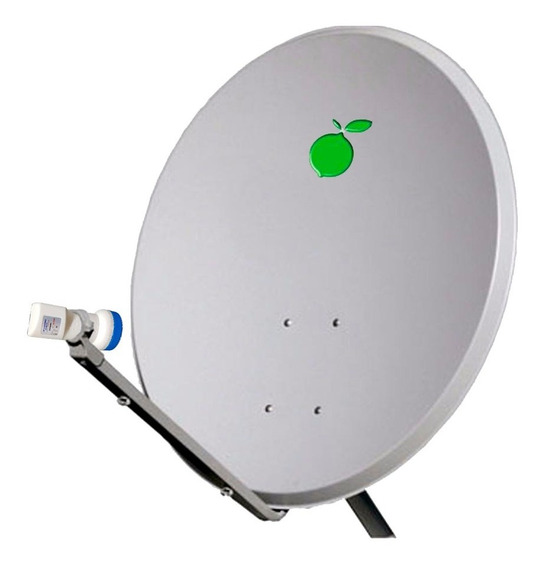 Kit Com Antena 60cm Chapa Ku E Lnbf Simples
