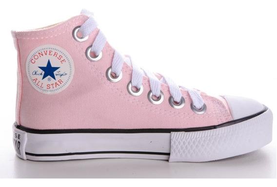 Tênis Converse All Star Ct Cano Alto Rosa Bebê Infantil