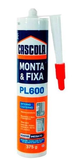 Monta E Fixa Silicione Pl600 Exterior Extraforte375g Cascola