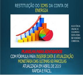 Planilha Para Restituição Do Icms Da Conta De Energia