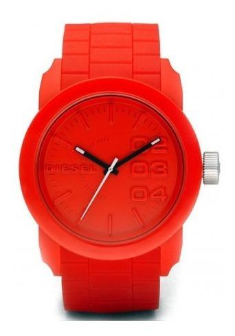 Relógio Diesel Masculino Silicone Vermelho Dz14408rn