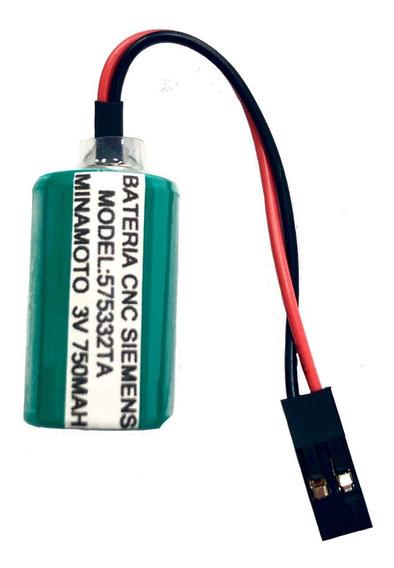 Bateria 575332ta Para Cnc Siemens 3v Lithium 750mah Minamoto