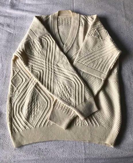 Sweter. Amarillo Cuello En V. Usado. Talle Xxl. Mb Estado