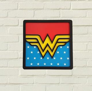 Quadro Mulher Maravilha 3d Super Herois - Decoração Nerd