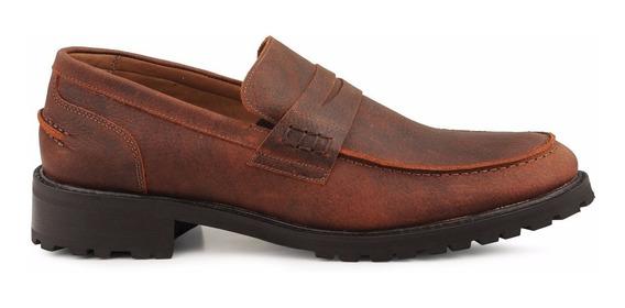Sapato Casual Loafer Wild Bull Masculino Em Couro The Shoe