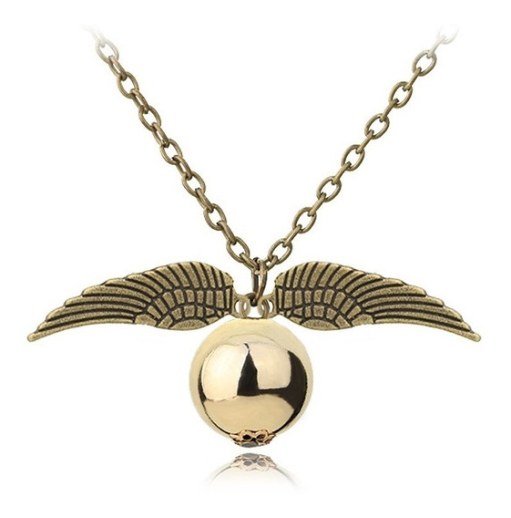 Colar Pomo De Ouro Harry Potter Lindo Pronta Entrega Oferta