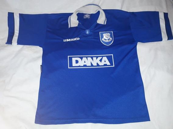 Camiseta Club A Everton Inglaterra Umbro 1995 Xl